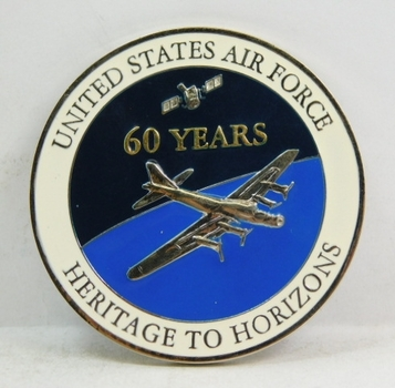 "Challenge Coin - United States Air Force - 60th Anniversary 1947/2007 - 2"" Diameter"