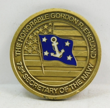 "Challenge Coin - Department of the Navy - 73rd Secretary of the Navy - 1.5"" Diameter"