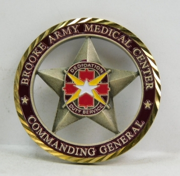 "Challenge Coin - Brooke Army Medical Center - Commending General - 2"" Diameter"