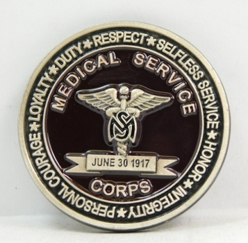 "Challenge Coin - June 30, 1917 - Medical Services Corps - 2"" Diameter"