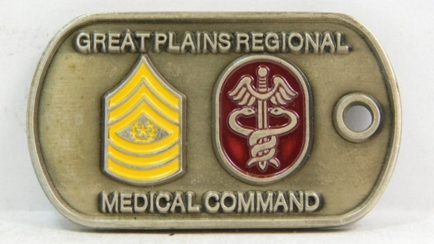 "Challenge Coin - U. S, Army - Great Plains Medical Medical Command - 2"" Long"