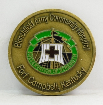 "Challenge Coin - Blanchfield Army Community Hospital - Fort Campbell, Kentucky - Pulse of the Eagle - 1.75"" Diameter"
