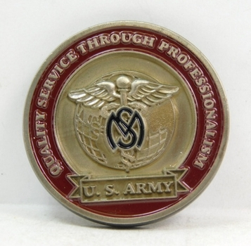 """Challenge Coin - U. S. Army Medical Services Corps - 1.75"""" Diameter"""