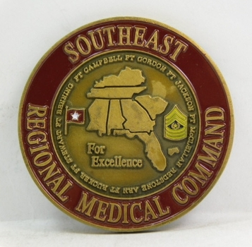 """Challenge Coin - Southeast Regional Medical Command - 1.75"""" Diameter"""