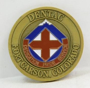 "Challenge Coin - Dental - Fort Carson, Colorado - 1.75"" Diameter"