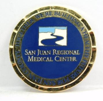 "Challenge Coin - U.S. Army - San Juan Regional Medical Center - 2"" Diameter"