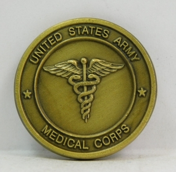 """Challenge Coin - United States Army Medical Corps - 1.5"""" Diameter"""