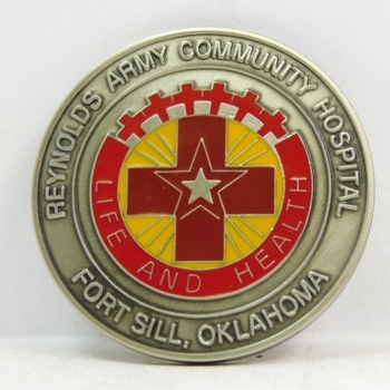 "Challenge Coin - Reynolds Army Community Hospital - Fort Sill, Oklahoma - 1.75"" Diameter"