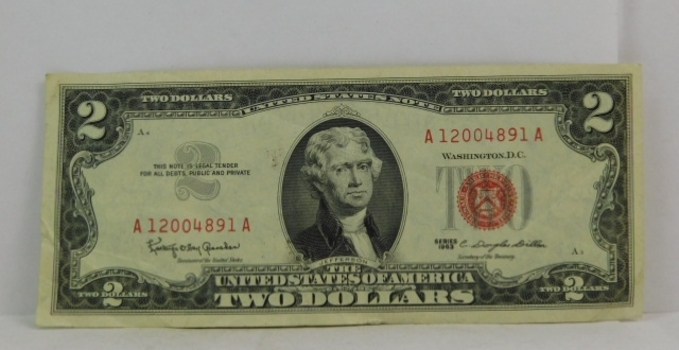 Series 1963 $2 Red Seal United States Note*Crisp Paper