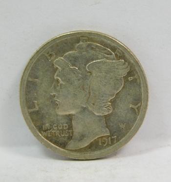 1917-S Silver Mercury Dime