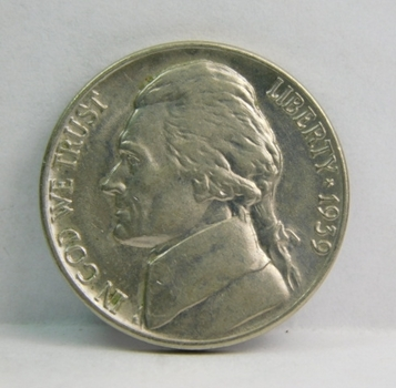 1939 Brilliant Uncirculated Jefferson Nickel