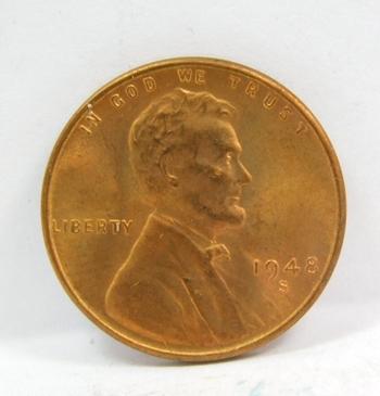 1948-S Lincoln Wheat Cent - Brilliant Uncirculated