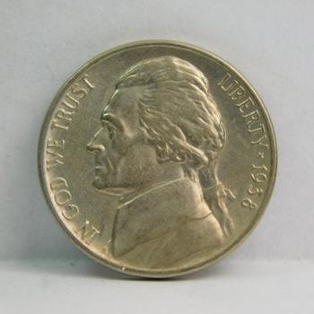 1938 Brilliant Uncirculated Jefferson Nickel