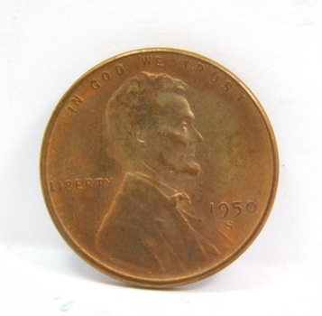 1950-S Lincoln Wheat Cent - Nice Detail on a Higher Grade Coin - RB