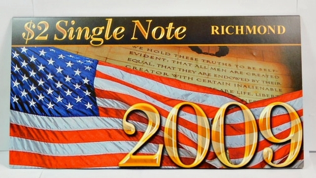 Series 2003A United States Two-Dollar ($2) Uncirculated Richmond Note - Serial # Begins with 2009 - #E20093154D - In Collector's Folder