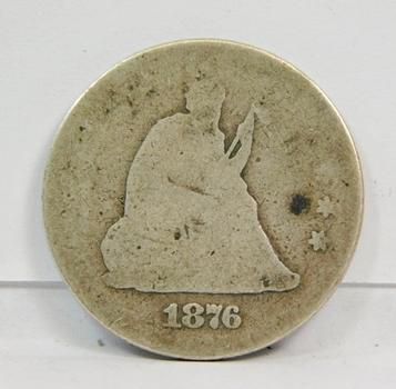 1876 US Silver Liberty Seated Quarter! Original Condition! Centennial Coin
