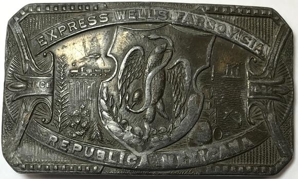 Vintage Wells Fargo Republic of Mexico Belt Buckle