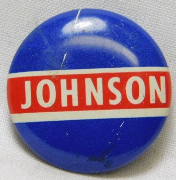 1964 Lyndon B. Johnson Presidential Political Button