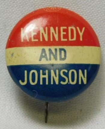 1960 John F. Kennedy and Lyndon B. Johnson Presidential Political Button