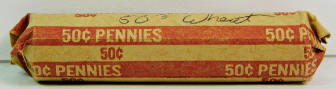 Full Roll of 1950's Lincoln Wheat Cents