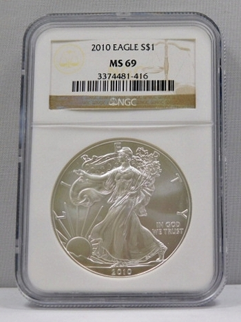 2010 American Silver Eagle - Graded MS69 by NGC