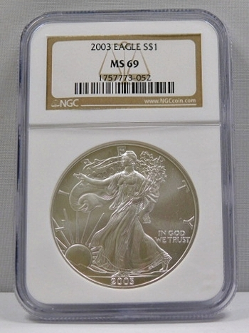2003 American Silver Eagle - Graded MS69 by NGC