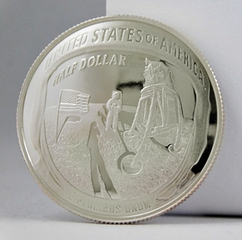 2019-S Proof Apollo 11 Commemorative Half Dollar - Mercury*Gemini*Apollo - Print of Footstep on Moon