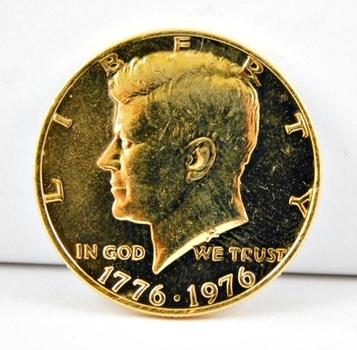 1976 24K Gold Layered Kennedy Bicentennial Half Dollar