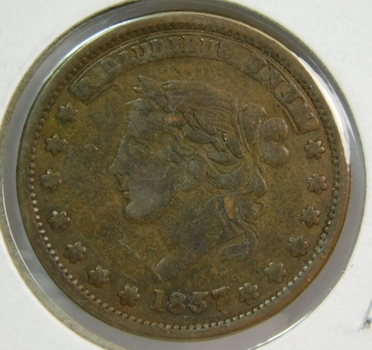 1837 Hard Times Token - Millions for Defence - Not One Cent - For Tribute