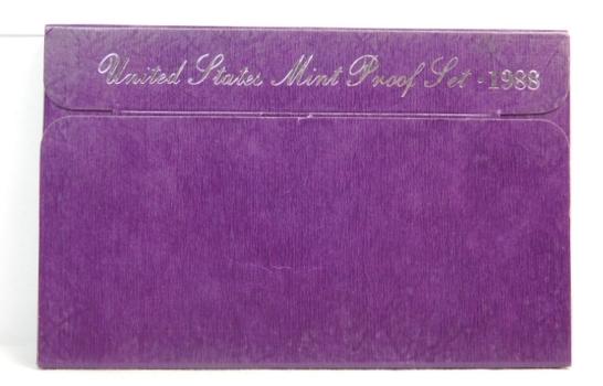 1988 United States Mint Proof Set With Original Box and COA