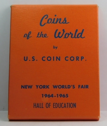 RARE! - New York World's Fair 1964/1965 Hall of Education - 1964 U.S. Silver Mint Set - In Original Snap Box and Original U.S. Coin Corp. Box