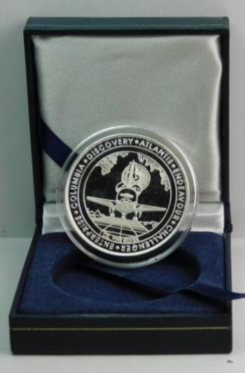 1 oz .999 Fine Silver Space Shuttle Program 30th Anniversary Proof Silver Commemorative in Original Presentation Box