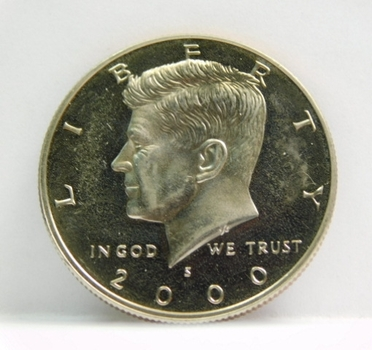 2000-S Proof Kennedy Half Dollar - Excellent Detail and DCAM