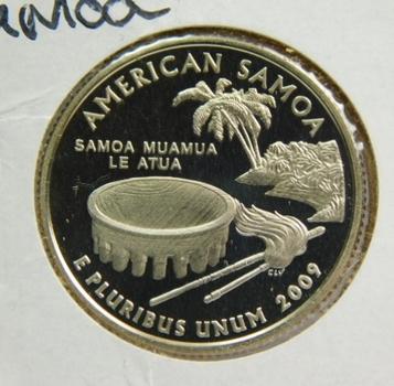2009-S Proof American Samoa Territorial Commemorative Quarter