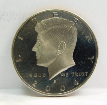 2004-S Proof Kennedy Half Dollar - Excellent Detail and DCAM on High Grade Coin