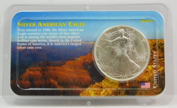 1993 American Silver Eagle - 1 oz ;999 Fine Silver - Certified Uncirculated and Placed in a Sealed Littleton Coin Company Showpack