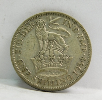 """1934 Great Britain Silver """"1 Shilling"""" King George V"""