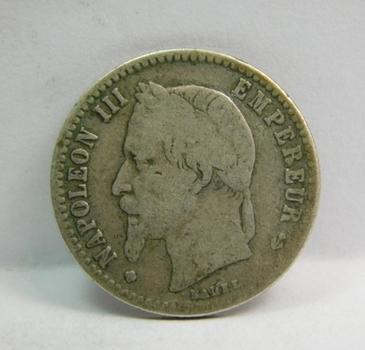 "1867 BB France ""50 Centimes"" Napoleon III"