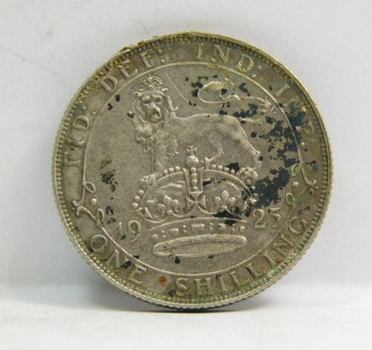 """1925 Great Britain Silver """"1 Shilling"""" King George V"""