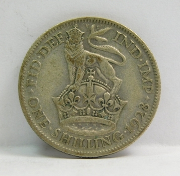 """1928 Great Britain Silver """"1 Shilling"""" King George V"""