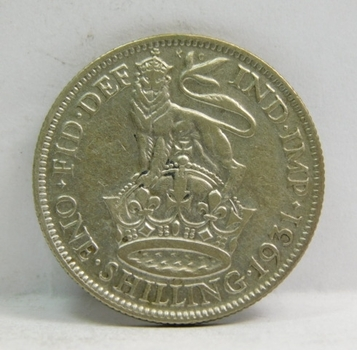 """1931 Great Britain Silver """"1 Shilling"""" King George V"""