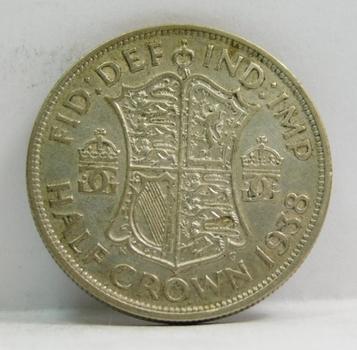"""1938 British """"Half Crown"""" King George VI"""