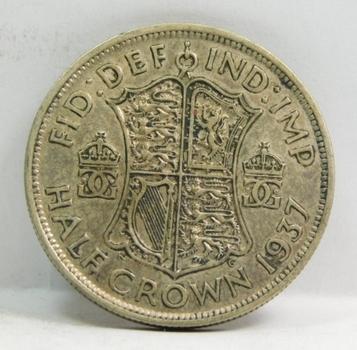 """1937 British """"Half Crown"""" King George VI"""