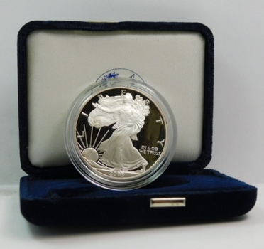 2003 American Eagle One Ounce .999 Silver Proof Coin-Original Government Packaging-Certificate Of Authenticity