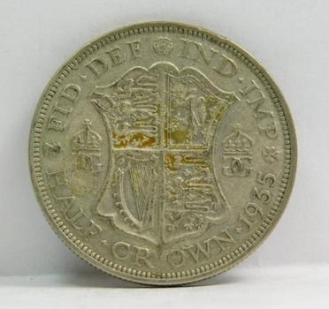 """1935 British """"Half Crown"""" King George VI"""