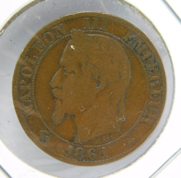 1861 France 5 Centimes