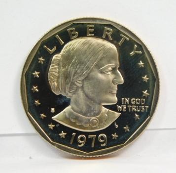 1979-S Gem High Grade Proof Susan B Anthony Dollar Coin-Very Nice!