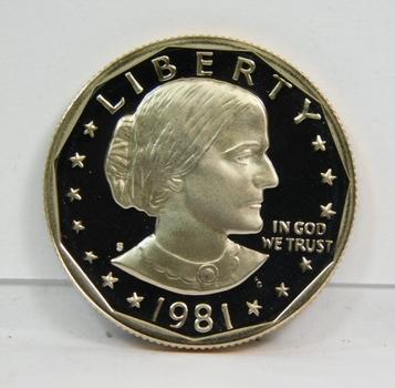 1981-S Gem High Grade Proof Susan B Anthony Dollar Coin-Very Nice!