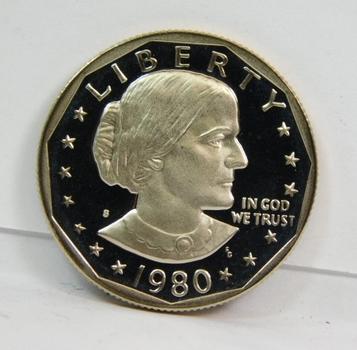 1980-S Gem High Grade Proof Susan B Anthony Dollar Coin-Very Nice!