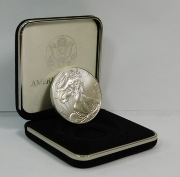 2013 Silver (.999 PURE) U.S. American Eagle-Brilliant Uncirculated-Custom Black Velvet Box! Great Gift!